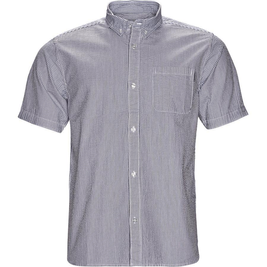 S/S ALDER SHIRT I024136 - S/S Alder Shirt - Skjorter - Regular - STONE BLUE/WHI - 1